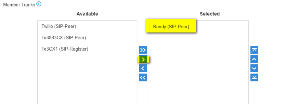 Creating Bandwidth SIP trunk, inbound, and outbound routes